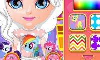 Mała Barbie projektuje strój w stylu My Little Pony