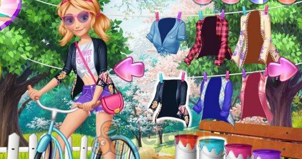 Księżniczki Disneya i wycieczka rowerowa