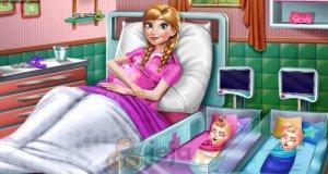 Księżniczka Anna i narodziny bliźniaków