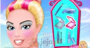 Błyszczący makijaż Barbie
