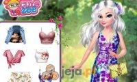 Księżniczki i ubrania w kwiaty