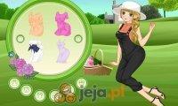Dziewczyna na trawniku