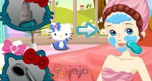 Makijaż fanki Hello Kitty