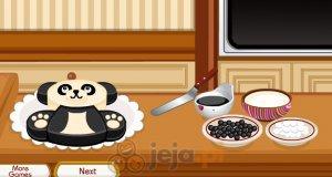 Ciasto w kształcie pandy