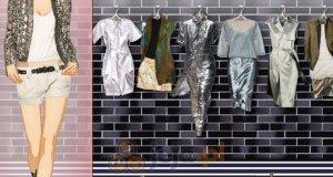 Metaliczne ubrania