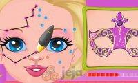 Tatuaż z henny na twarzy