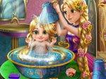 Roszpunka myje dziecko