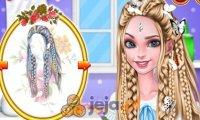 Elsa i Moana w fantazyjnych fryzurach