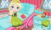Elsa odpoczywa po operacji