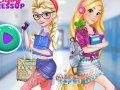 Elsa i Anna w koledżu