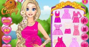 Roszpunka i różowe sukienki
