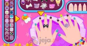 Błyszczące paznokcie Baby Barbie