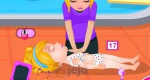 Mała Barbie i wypadek podczas pływania