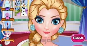 Elsa i zimowy makijaż