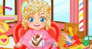 Dziewczynka u fryzjera