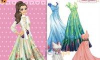 Długie szyfonowe suknie
