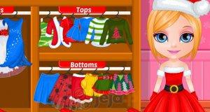 Mała Barbie przygotowuje się do Świąt