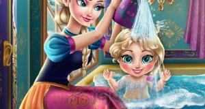Elsa myje dziecko
