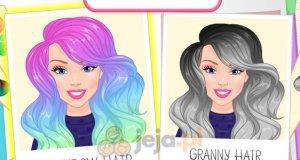 Kolorowe włosy Barbie