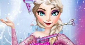 Elsa w salonie fryzur