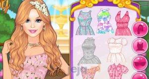 Barbie i sukienki w kwiaty