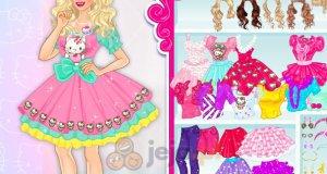Nastolatka w stylu Hello Kitty