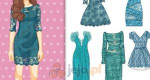 Morskie koronkowe sukienki