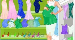 Ciężarna Elsa na zakupach