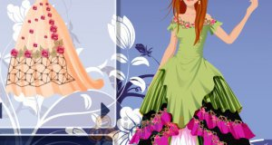 W rozłożystych sukienkach