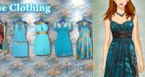 Niebieski pokaz mody