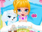 Mała Barbie choruje na ospę