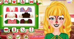 Barbie i świąteczne malowanie twarzy