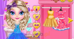 Błyszczące suknie Baby Barbie
