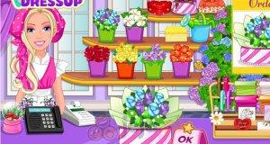 Barbie w kwiaciarni