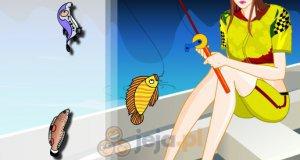 Dziewczyna na rybach