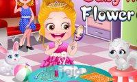 Mała Hazel sypie kwiatki