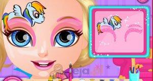 Mała Barbie - malowanie twarzy
