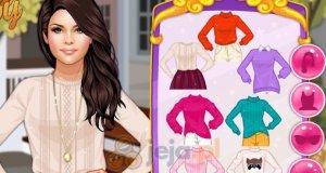 Selena i ręcznie robione swetry