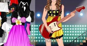 Miley Cyrus z gitarą
