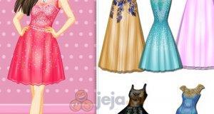 Sukienki z ozdobionym dekoltem