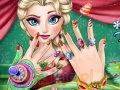 Świąteczny manicure Elsy