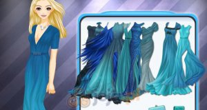 Niebieskie suknie