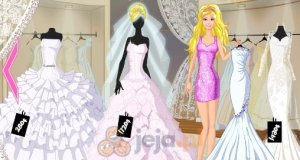 Barbie w salonie sukien ślubnych