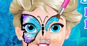 Motylek na twarzy Elsy