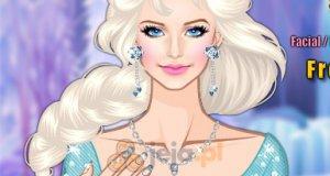 Makijaż z Krainy lodu