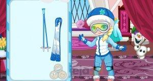 Mała Elsa na nartach