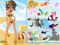 Laleczki Bratz na plaży