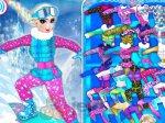 Elsa na snowboardzie