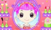 Dziewczynka przed lustrem