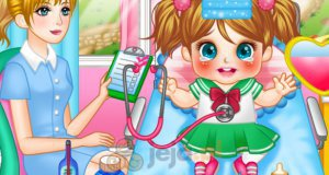 Przeziębiona dziewczynka